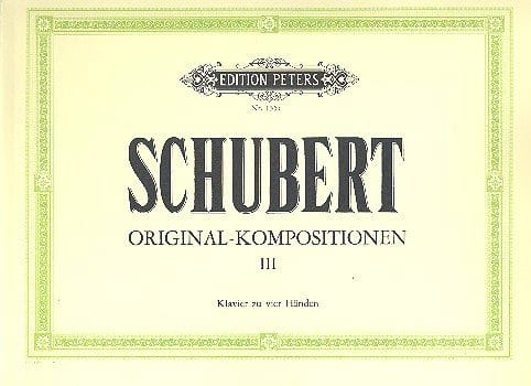 SCHUBERT - Original Kompositionen Volume 3. 4 Hands - Partition - di-arezzo.co.uk