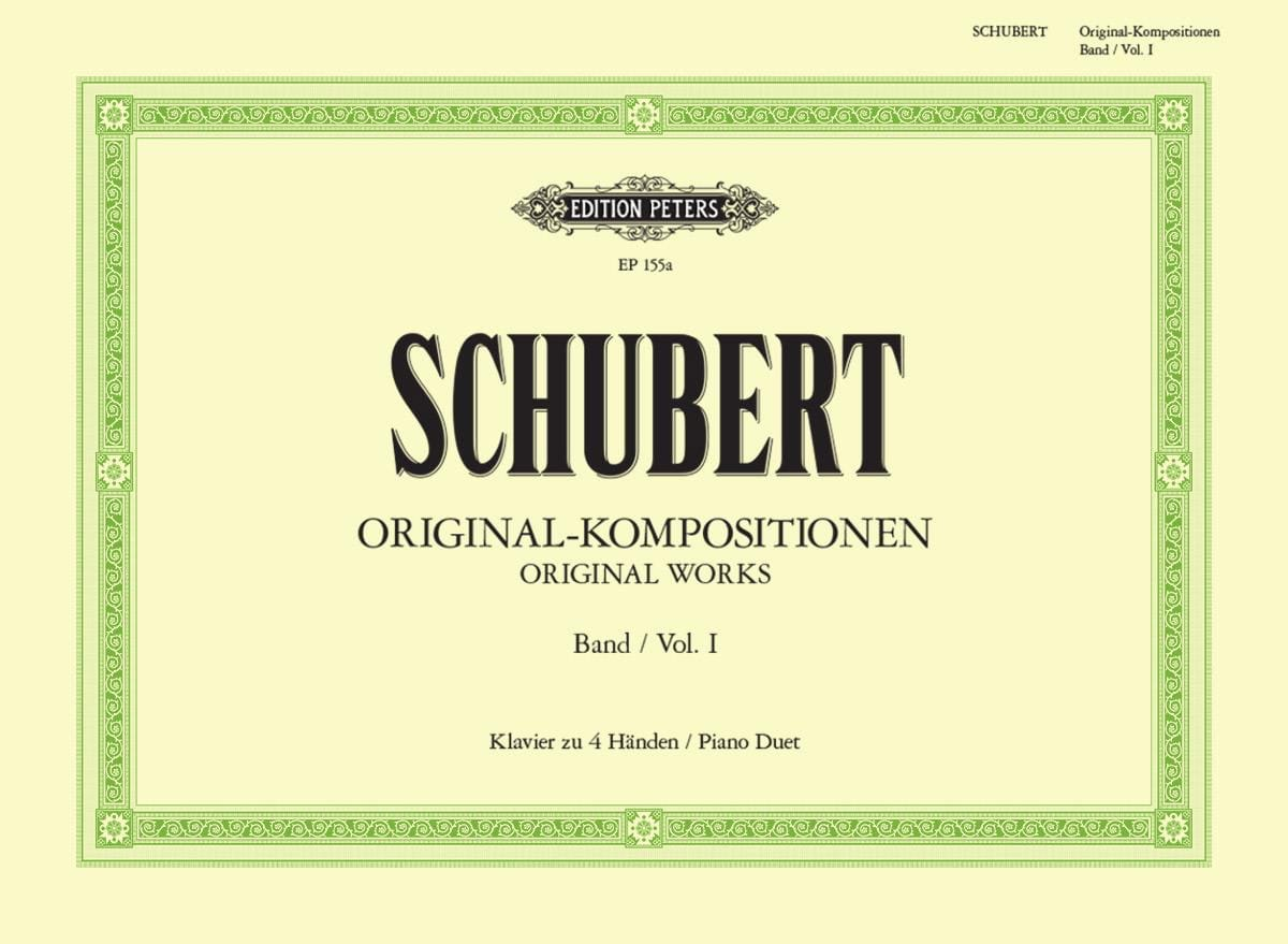 SCHUBERT - Original Kompositionen Volume 1. 4 Hands - Partition - di-arezzo.co.uk