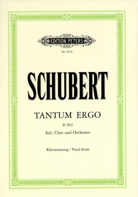 Tantum Ergo D 962 - SCHUBERT - Partition - Chœur - laflutedepan.com