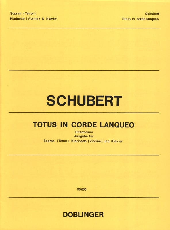 SCHUBERT - Totus In Lanqueo Strings Opus 46 - Partition - di-arezzo.co.uk