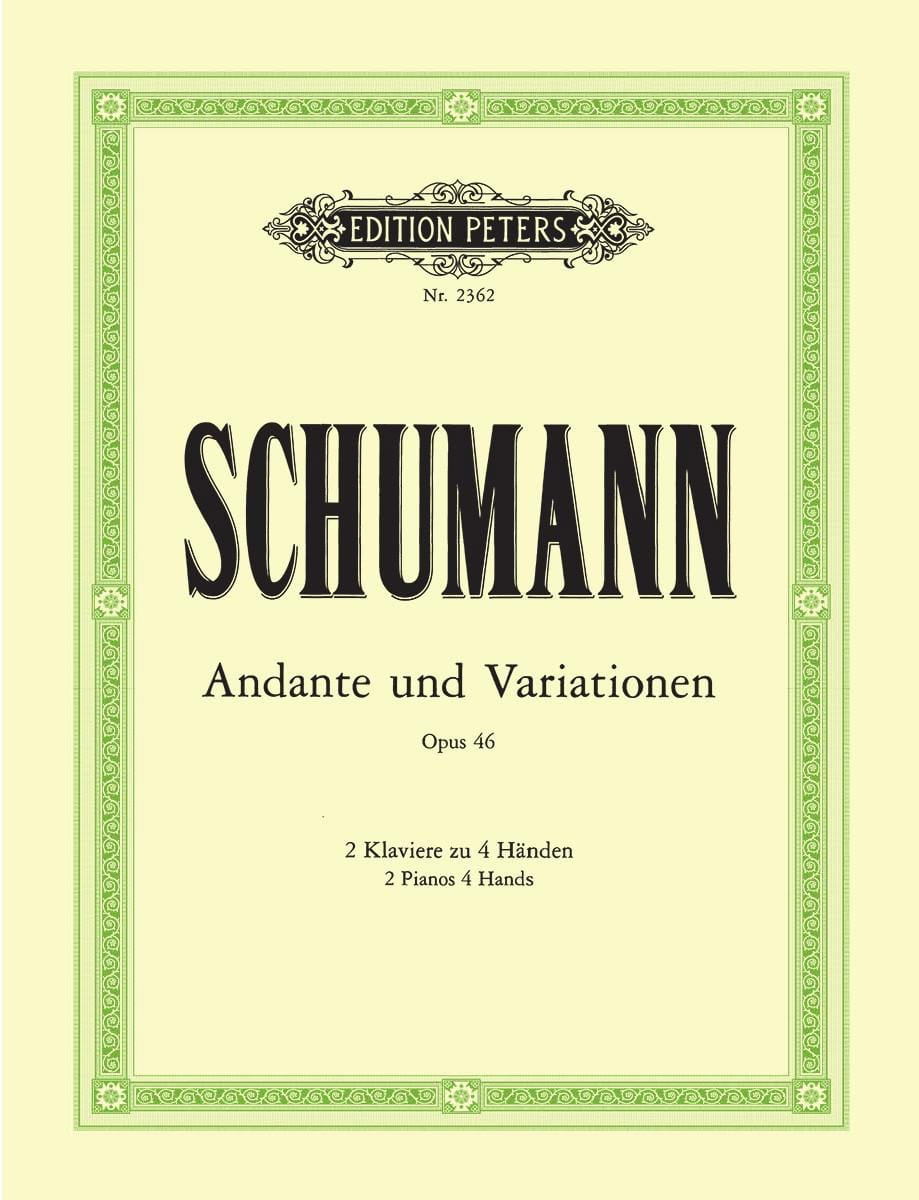 SCHUMANN - Andante and Variations Opus 46. 2 Pianos - Partition - di-arezzo.co.uk