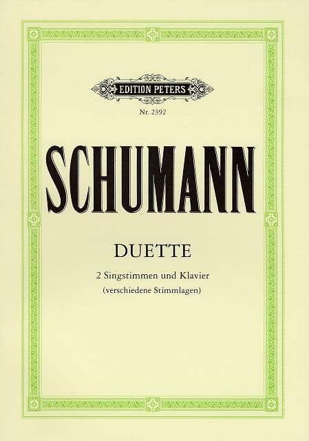 SCHUMANN - Duette - Partition - di-arezzo.co.uk