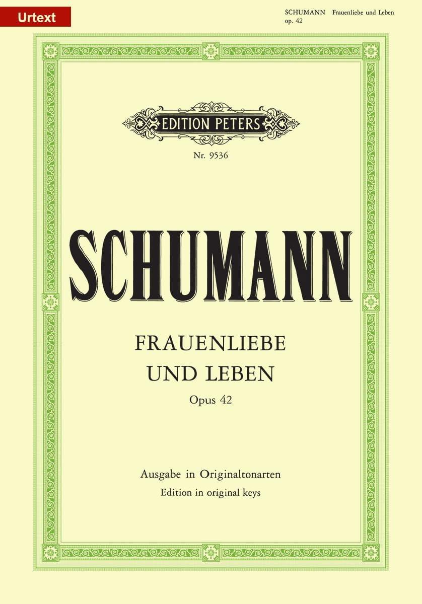 SCHUMANN - Frauenliebe Und Leben Opus 42. High Voice - Partition - di-arezzo.co.uk
