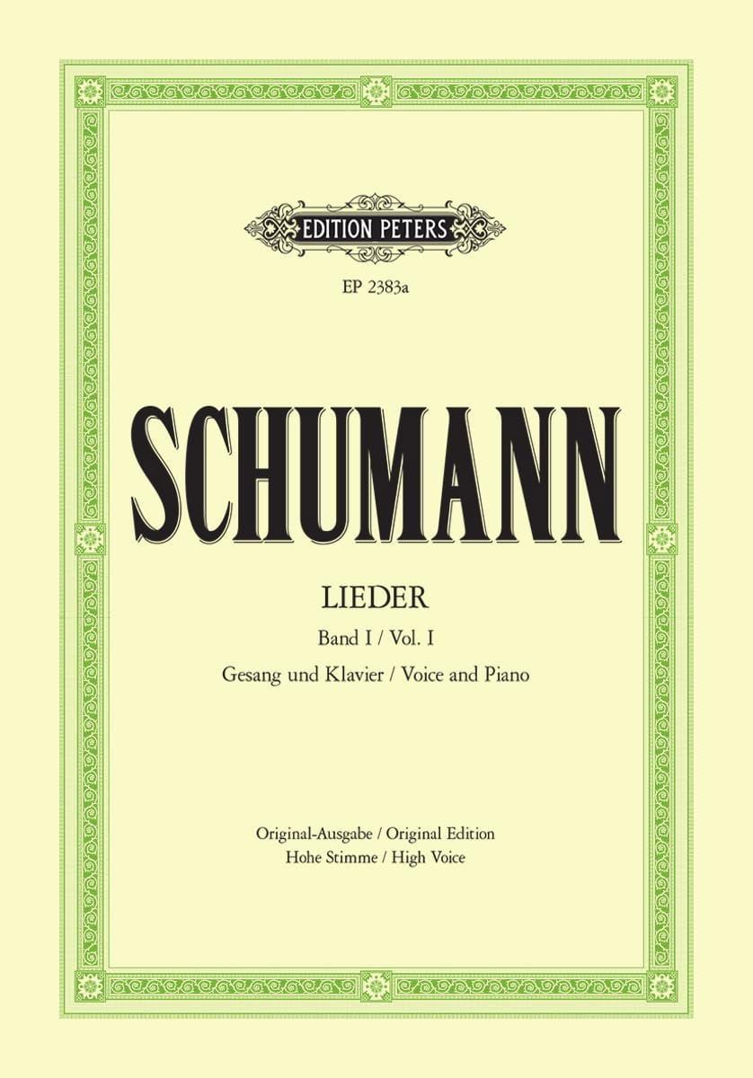 SCHUMANN - Lieder Volume 1. High voice - Partition - di-arezzo.co.uk