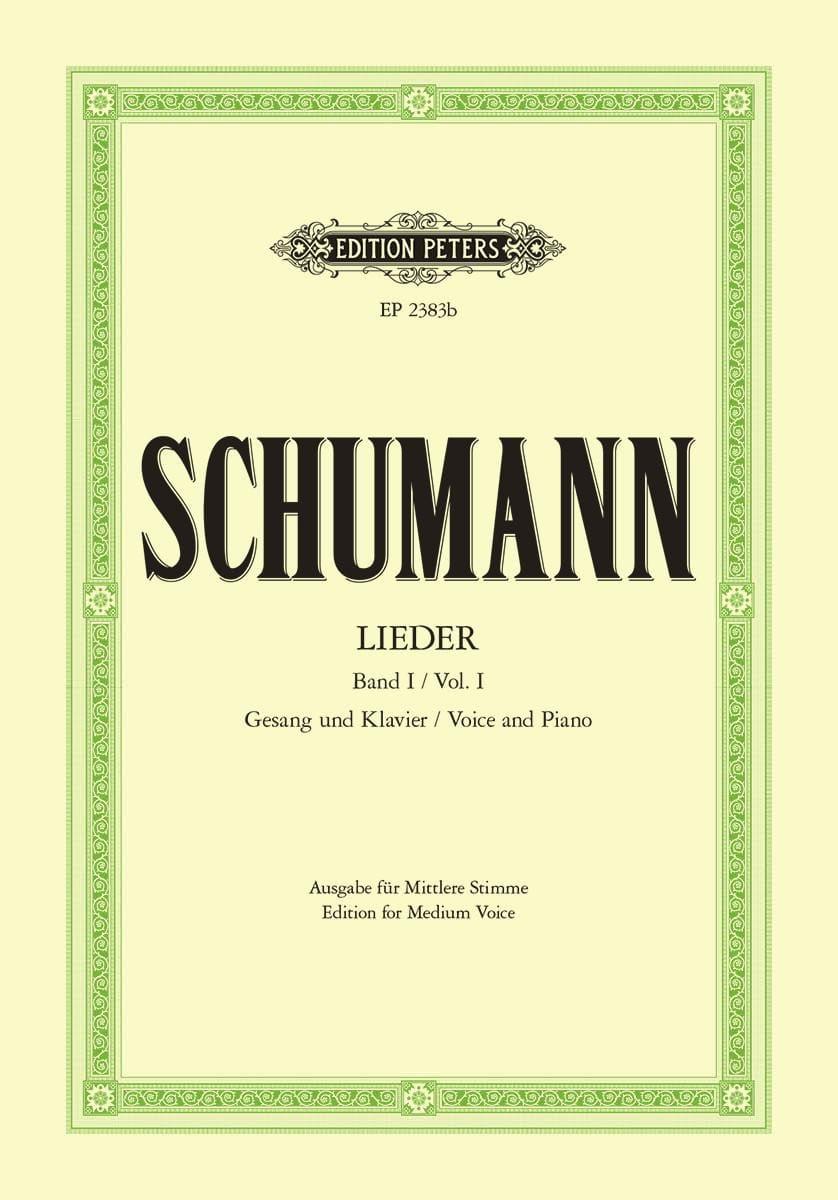 SCHUMANN - Lieder Volume 1. Average Voice - Partition - di-arezzo.com