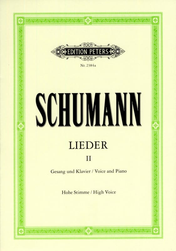 SCHUMANN - Lieder Volume 2. High Voice - Partition - di-arezzo.co.uk