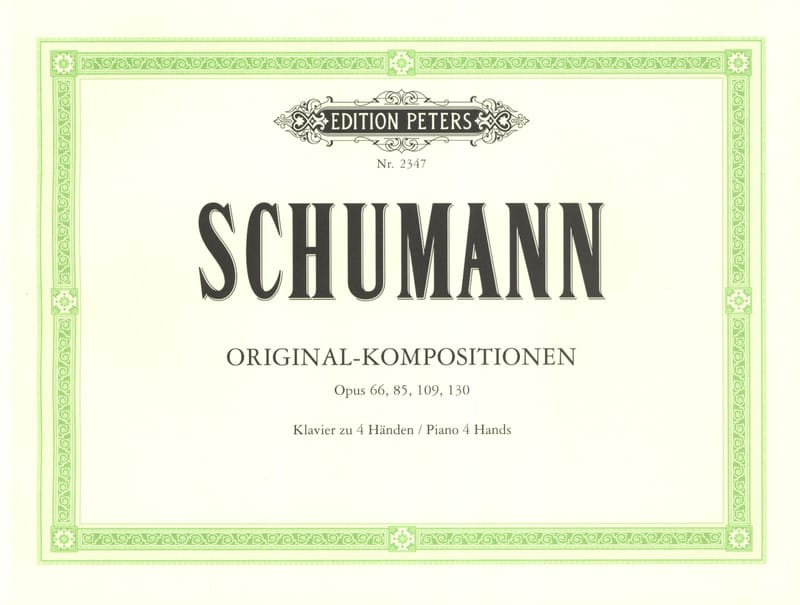 SCHUMANN - Original compositions. 4 Hands - Partition - di-arezzo.co.uk