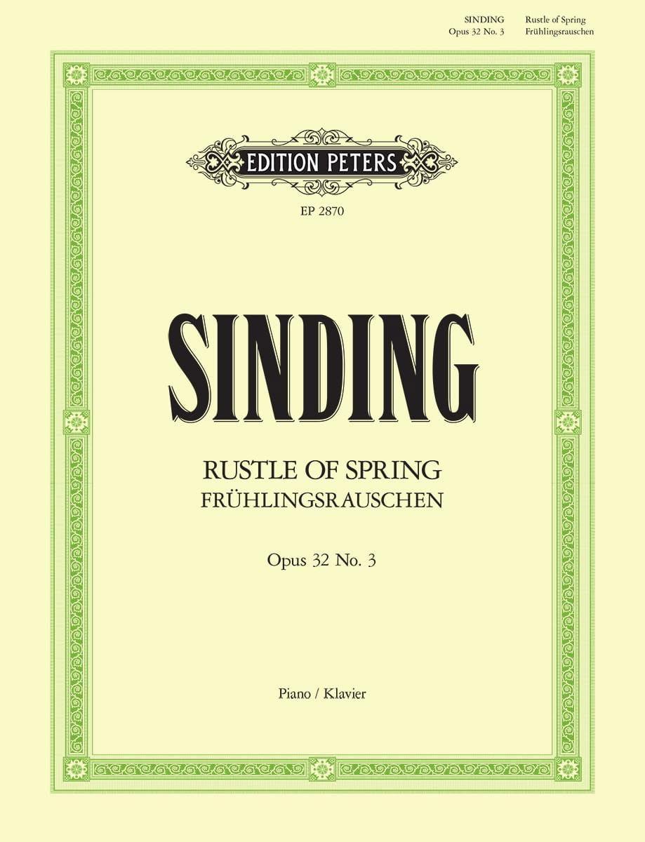 Rustle Of Spring Opus 32-3 - Christian Sinding - laflutedepan.com