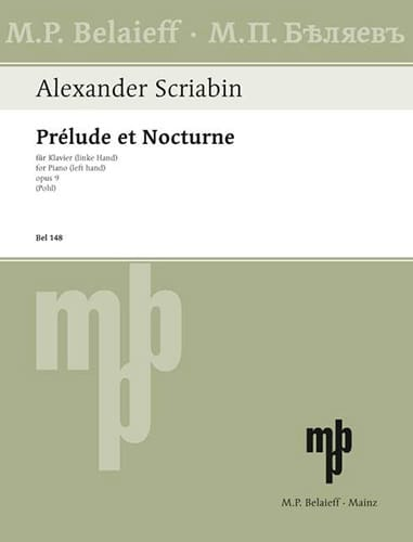 Alexander Scriabine - Prelude and Nocturne Opus 9 - Partition - di-arezzo.co.uk
