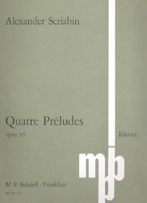 4 Préludes Op. 39 - SCRIABINE - Partition - Piano - laflutedepan.com