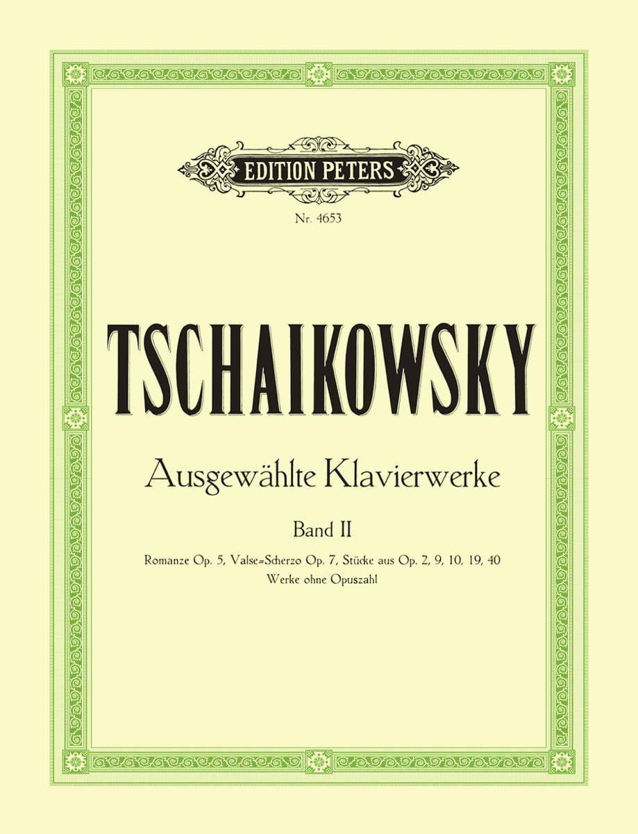 Oeuvres Pour Piano Volume 2 - TCHAIKOVSKY - laflutedepan.com