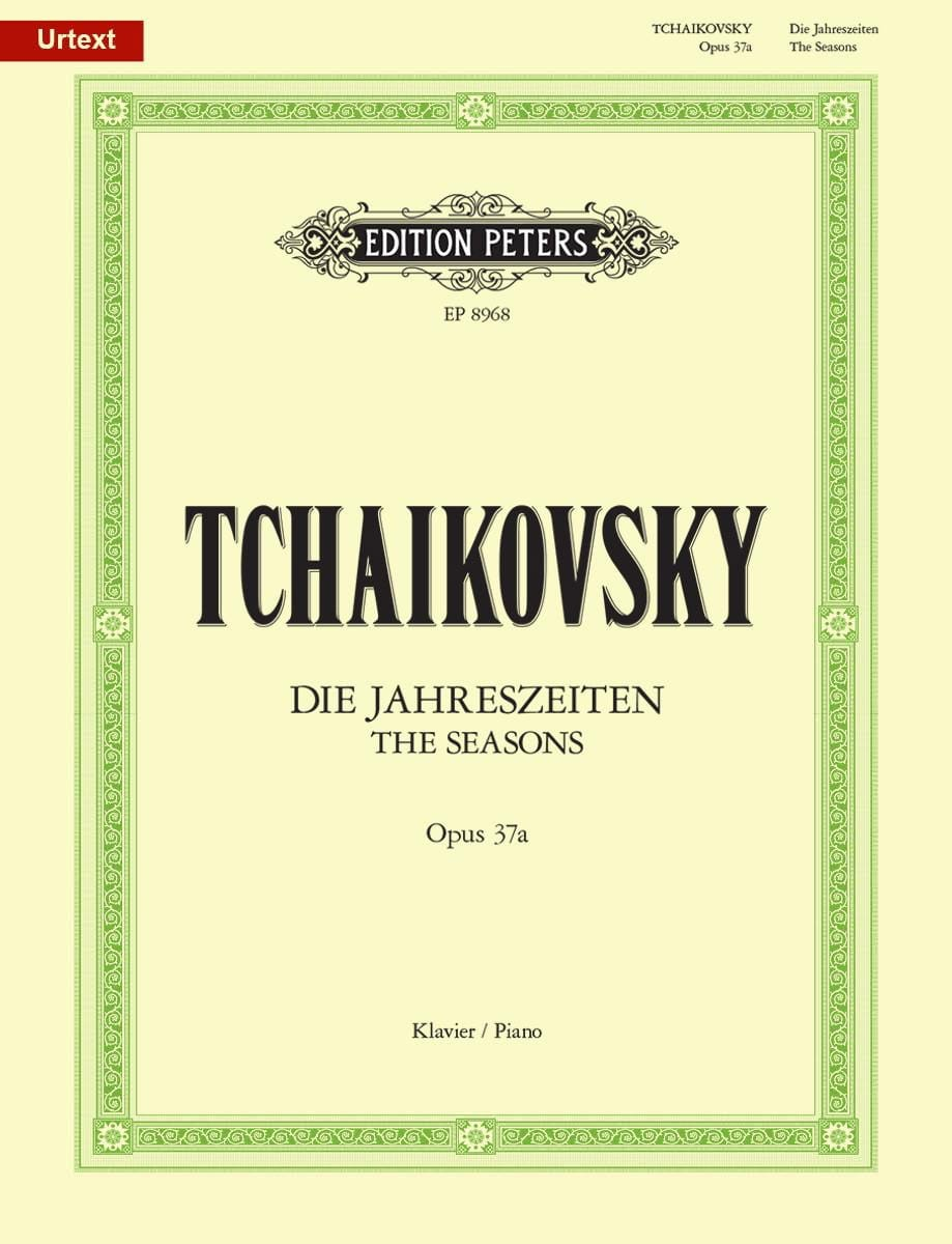 TCHAIKOWSKY - Seasons Opus 37a - Partition - di-arezzo.co.uk