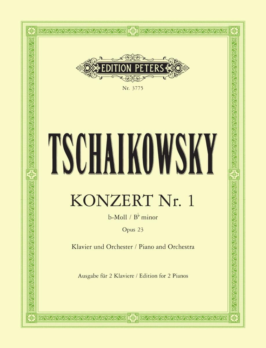 TCHAIKOWSKY - Piano Concerto No. 1 In B Flat Minor Opus 23 - Partition - di-arezzo.co.uk