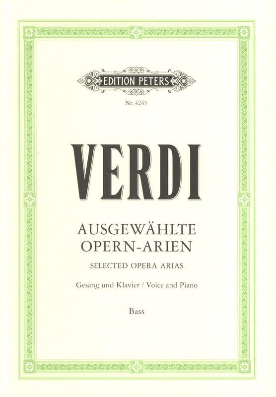 Opern Arien. Basse - VERDI - Partition - Recueils - laflutedepan.com