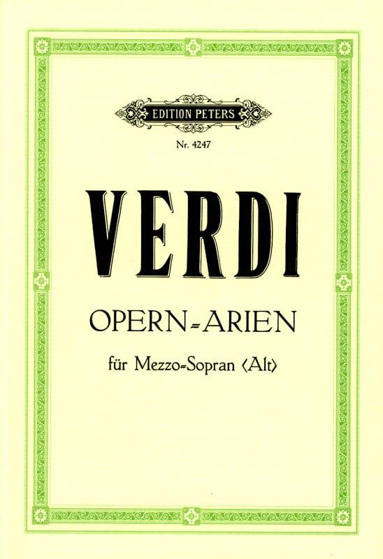 Arien. Mezzo Alto - VERDI - Partition - Opéras - laflutedepan.com