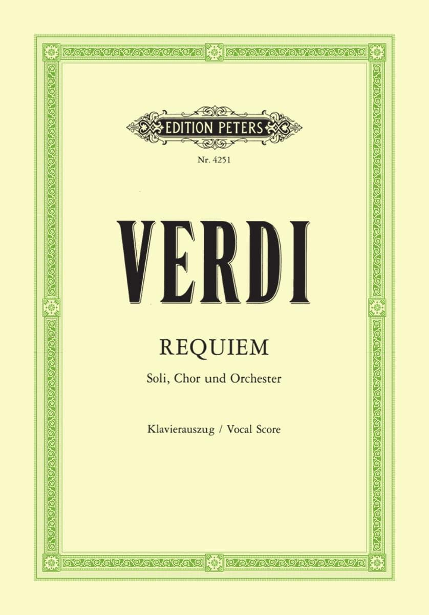 VERDI - Requiem - Partition - di-arezzo.de