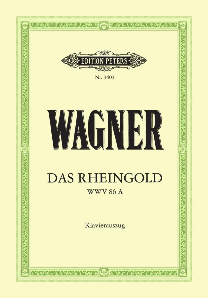 Richard Wagner - Das Rheingold. Wwv 86a - Partition - di-arezzo.com