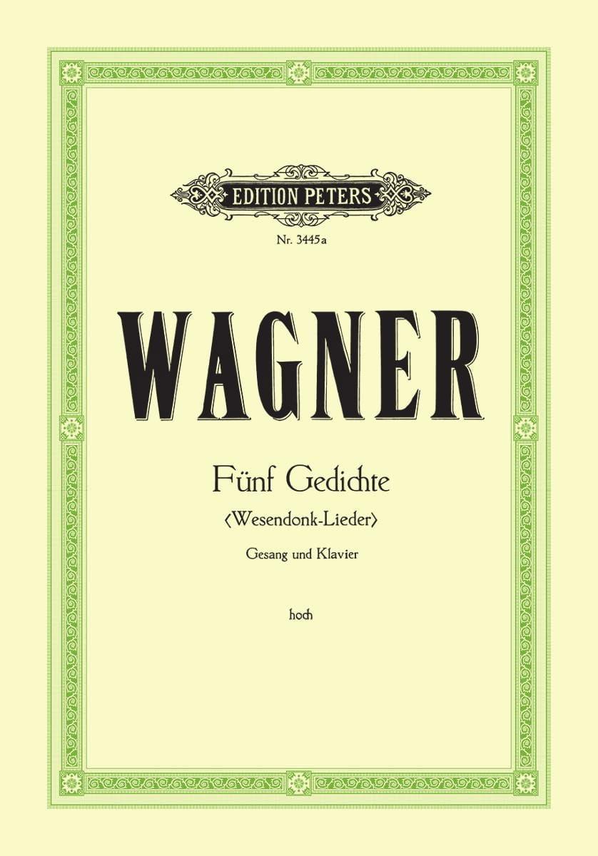 Wesendonck-Lieder. Voix Haute - WAGNER - Partition - laflutedepan.com