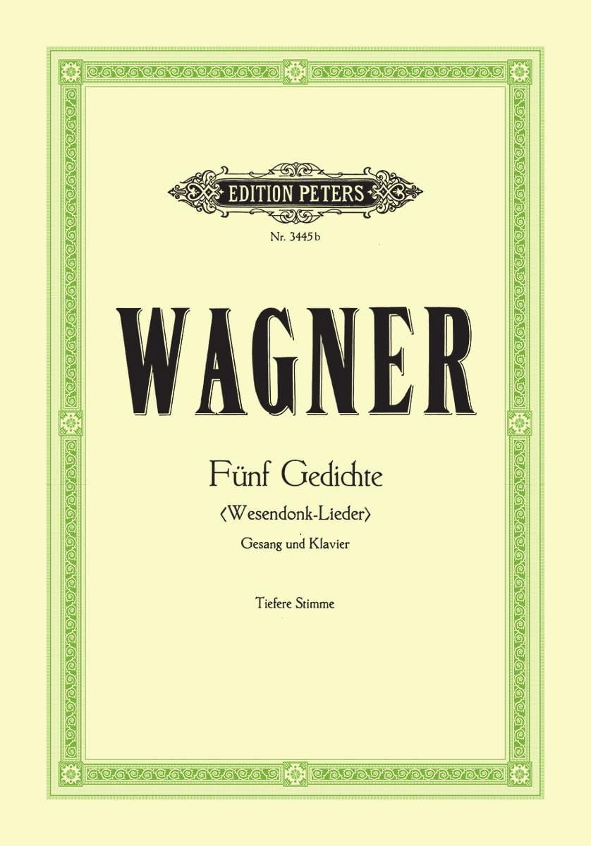 Wesendonck-Lieder. Voix Grave - WAGNER - Partition - laflutedepan.com