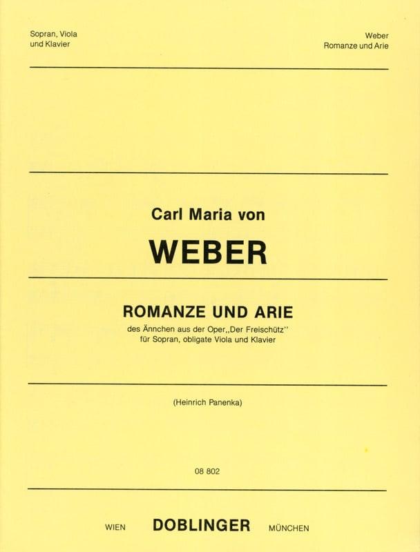 Carl Maria von Weber - Romanze Und Arie. Der Freischutz - Partition - di-arezzo.com