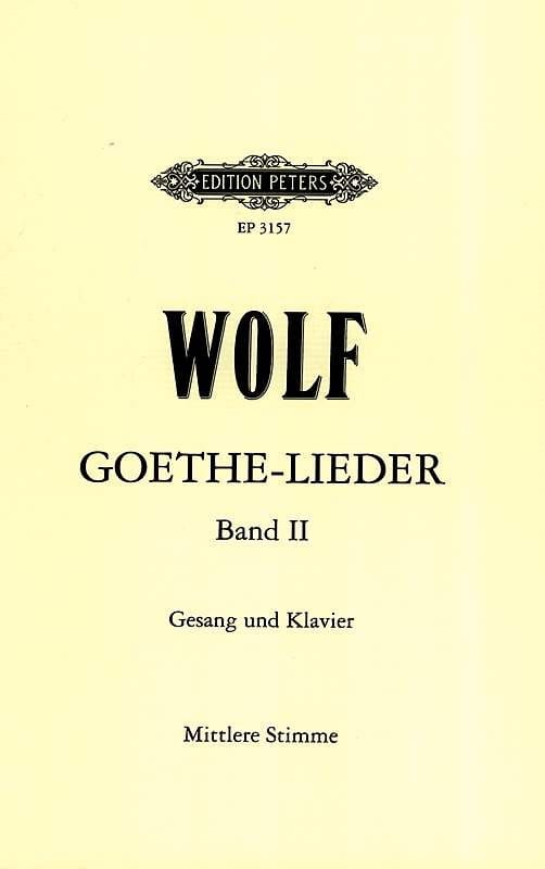Goethe-Lieder Volume 2 - Hugo Wolf - Partition - laflutedepan.com