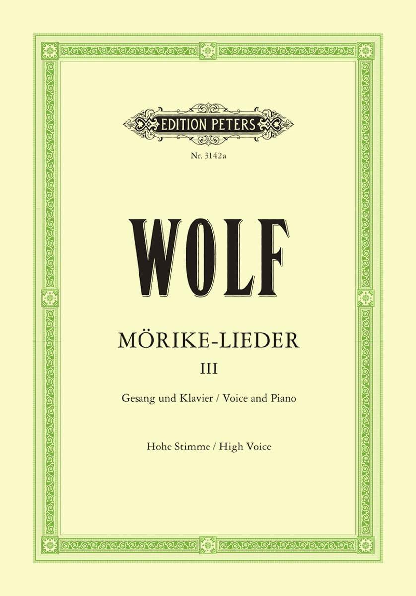 Mörike-Lieder Volume 3. Voix Haute - Hugo Wolf - laflutedepan.com