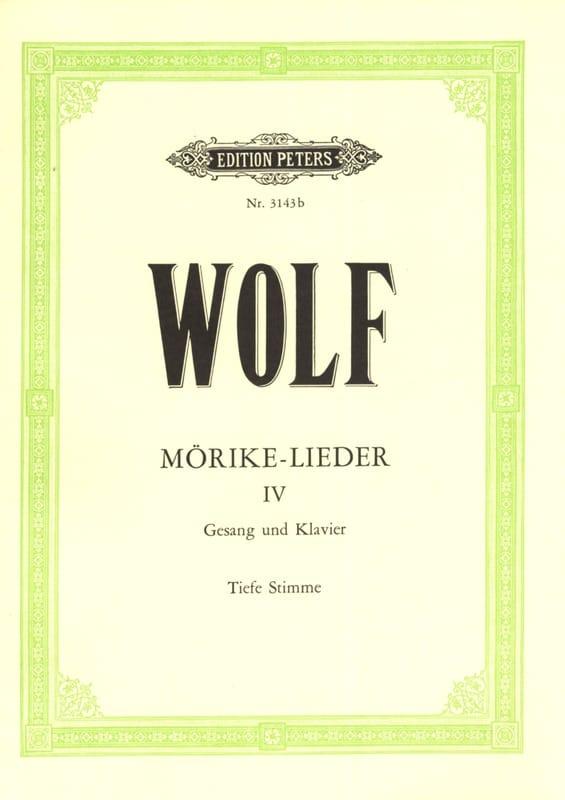 Mörike-Lieder Volume 4. Voix Grave - Hugo Wolf - laflutedepan.com