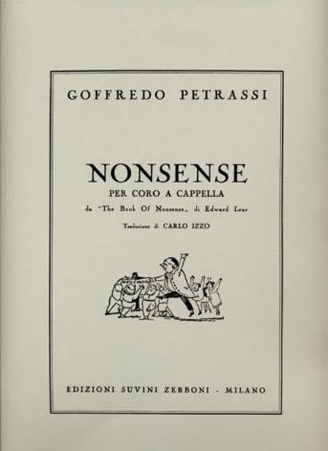 5 Nonsense - Goffredo Petrassi - Partition - Chœur - laflutedepan.com