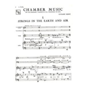 Luciano Berio - Chamber Music - Partition - di-arezzo.com