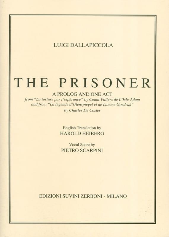 Luigi Dallapiccola - Il Prigioniero - Partition - di-arezzo.co.uk