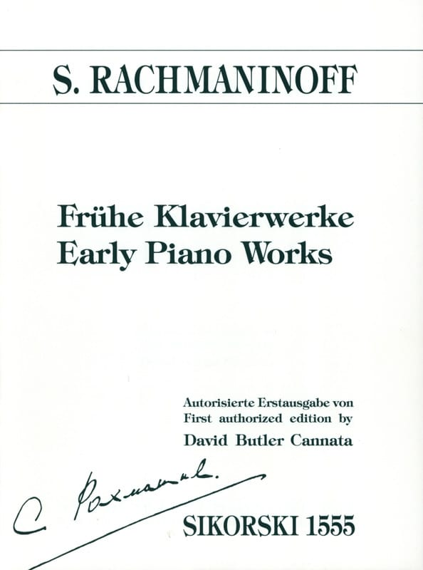Frühe Klavierwerke - RACHMANINOV - Partition - laflutedepan.com