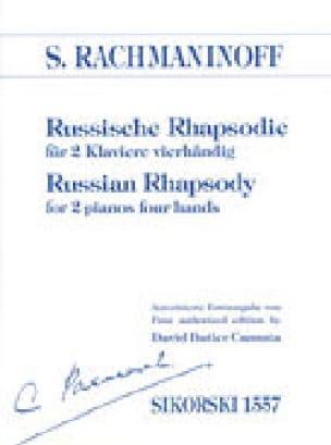 RACHMANINOV - Russische Rhapsodie. 2 Pianos - Partition - di-arezzo.co.uk