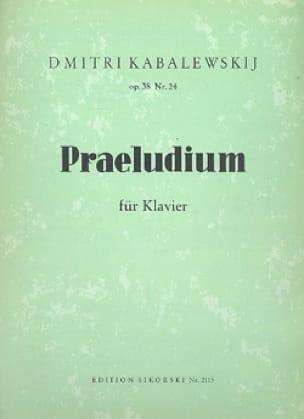 Prélude pour piano Op. 38-24 - KABALEVSKY - laflutedepan.com