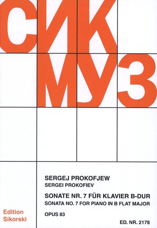 Sergei Prokofiev - Sonate pour piano n° 7 Opus 83 - Partition - di-arezzo.ch