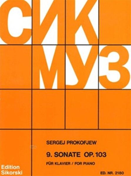 Sonate pour piano n° 9 Opus 103 - PROKOFIEV - laflutedepan.com
