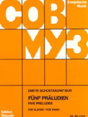 5 Préludes Opus 2 - CHOSTAKOVITCH - Partition - laflutedepan.com