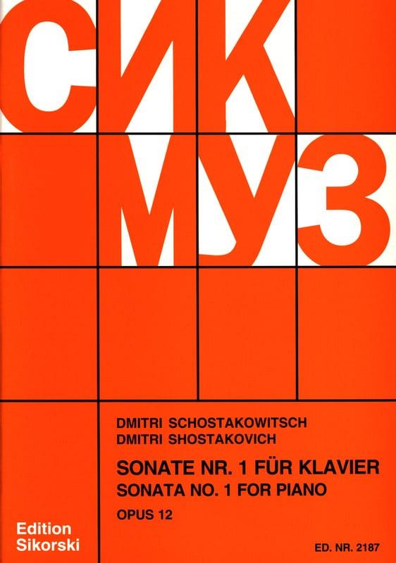 Sonate pour piano N°1 Opus 12 - CHOSTAKOVITCH - laflutedepan.com