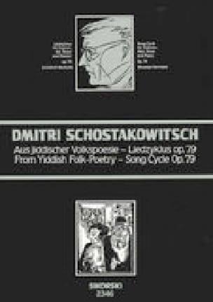 Aus Jiddischer Volkspoesie Opus 79 - CHOSTAKOVITCH - laflutedepan.com