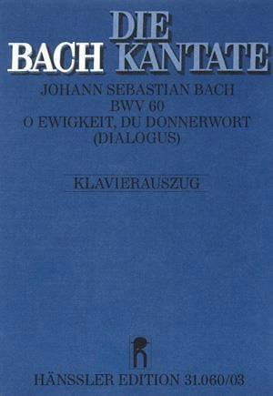 BACH - Cantate 60 O Ewigkeit, Du Donnerwort - Partition - di-arezzo.es
