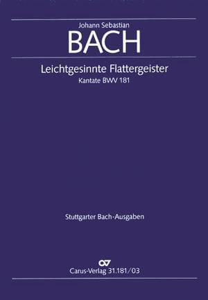 Cantate 181 Leichtgesinnte Flattergeister - laflutedepan.com
