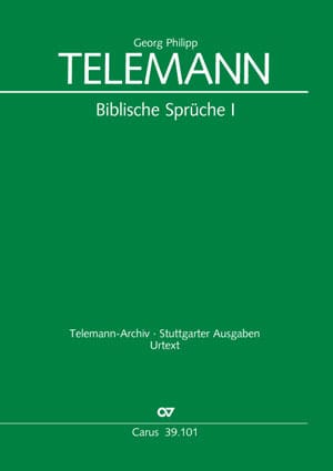TELEMANN - Biblische Sprüche 1 - Partition - di-arezzo.co.uk