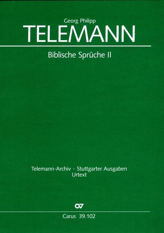 TELEMANN - Biblische Sprüche 2 - Partition - di-arezzo.co.uk
