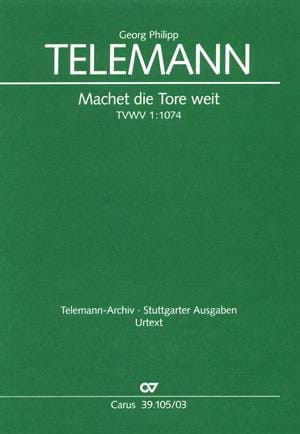 TELEMANN - Machet Die Tore Weit. Tvwv 1074 - Partition - di-arezzo.co.uk