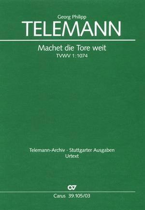 TELEMANN - Machet Die Tore Weit. Tvwv 1074 - Partition - di-arezzo.co.uk
