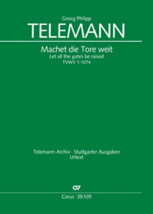 TELEMANN - Machet die Tore weit - Partition - di-arezzo.co.uk