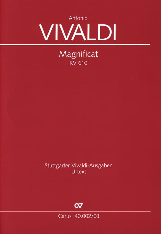 VIVALDI - Magnificat RV 610 - 611 - Partition - di-arezzo.com