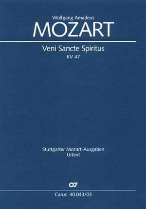 Veni Sancte Spiritus K 47 - MOZART - Partition - laflutedepan.com