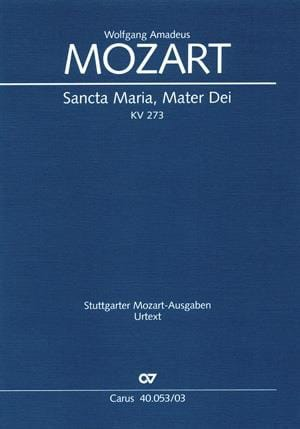 MOZART - Sancta Maria Mater Dei K 273 - Partition - di-arezzo.co.uk