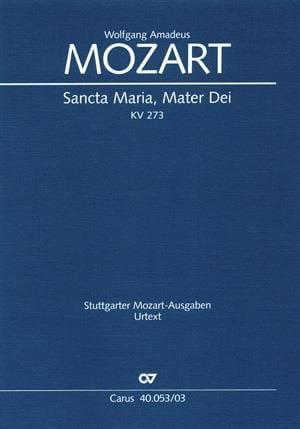 MOZART - Sancta Maria Mater Dei K 273 - Partition - di-arezzo.com