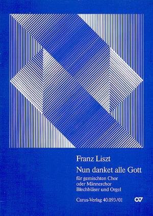 Nun Danket Alle Gott. Conducteur - LISZT - laflutedepan.com
